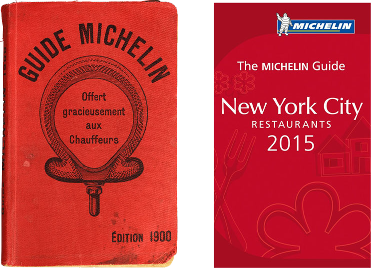 The Michelin Guide in 1900 and 2015